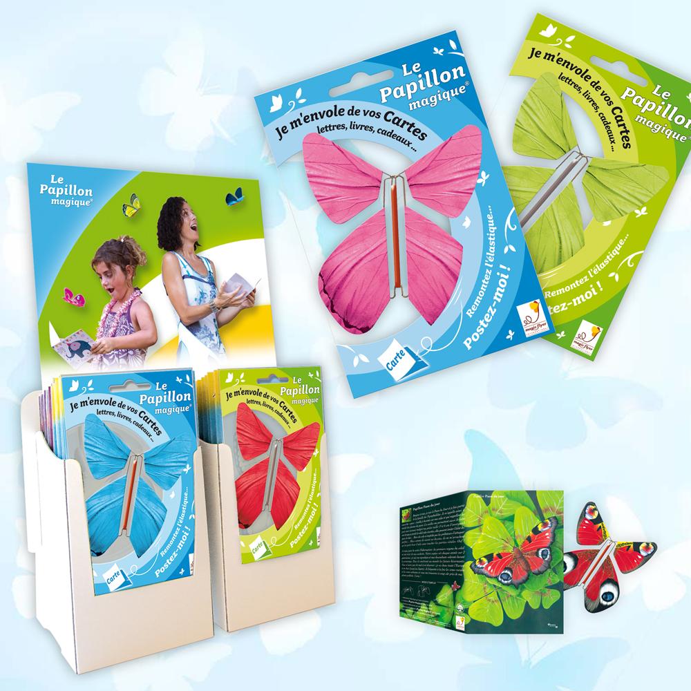 Boutiques, revendeurs, proposez le Papillon Magique à vos clients