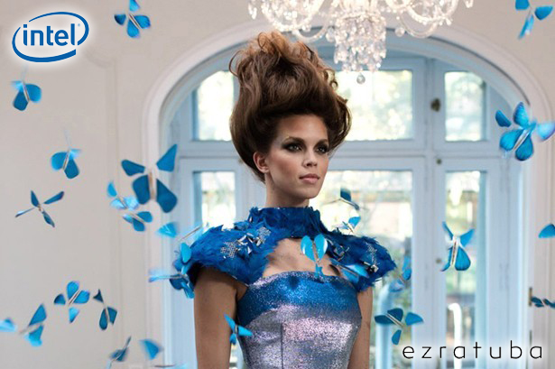 "Pub TV ""Experience Amazing"", INTEL 2016. The Butterfly Dress, EZRA TUBA, Fashion Designers. Le Papillon Magique 