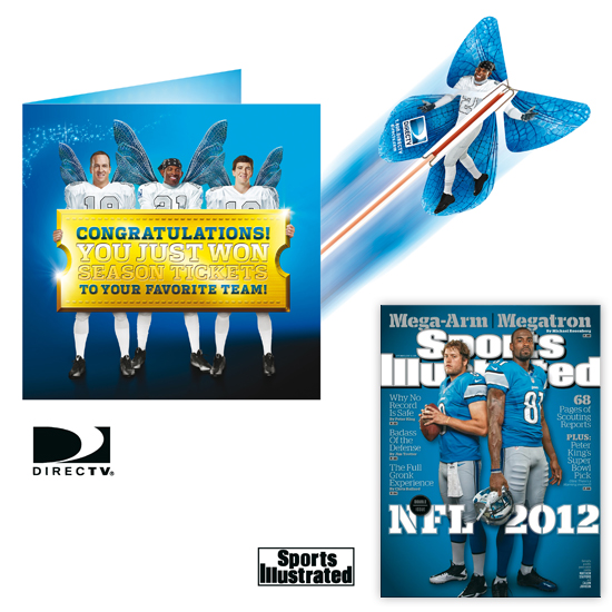Campagne publicitaire nationale américaine, DIRECT TV et SPORTS ILLUSTRATED Magazine. Le Papillon Magique
