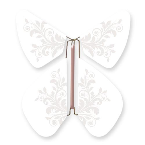 Butterfly Baroque Flower White Pearl