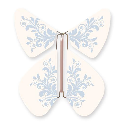 Butterfly Baroque Flower Blue Pastel