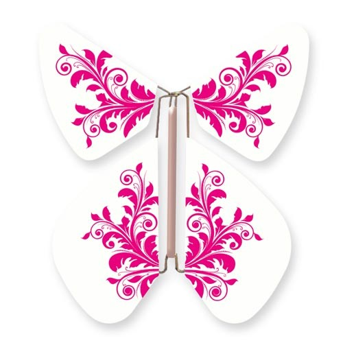 Butterfly Baroque Flower Fushia