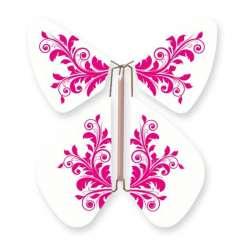 Mariposa Flor Barroca Fushia