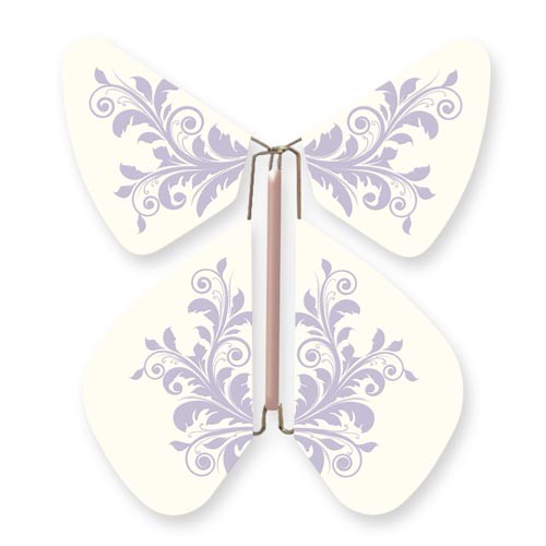 Butterfly Baroque Flower Purple Pastel