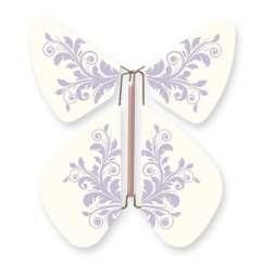 Mariposa Flor Barroca Lavanda Pastel