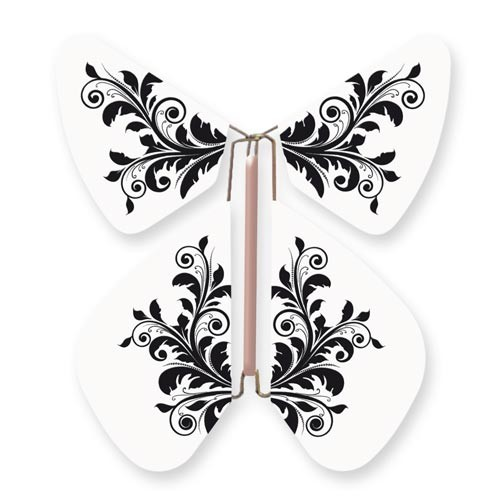 Butterfly Baroque Flower Black