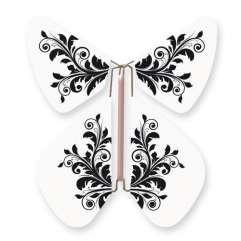 Papillon Fleur Baroque Noir