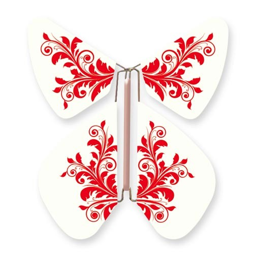 Butterfly Baroque Flower Red