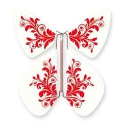 Papillon Fleur Baroque Rouge