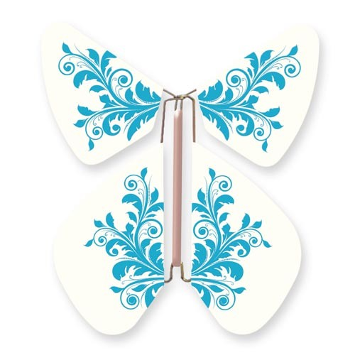 Butterfly Baroque Flower Turquoise