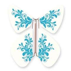 Mariposa Flor Barroca Turquesa