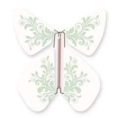 Mariposa Flor Barroca Verde Pastel