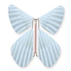 Papillon Plume Bleu Pastel