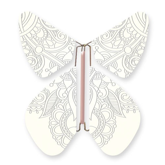 Papillon Tattoo Métal ARGENT