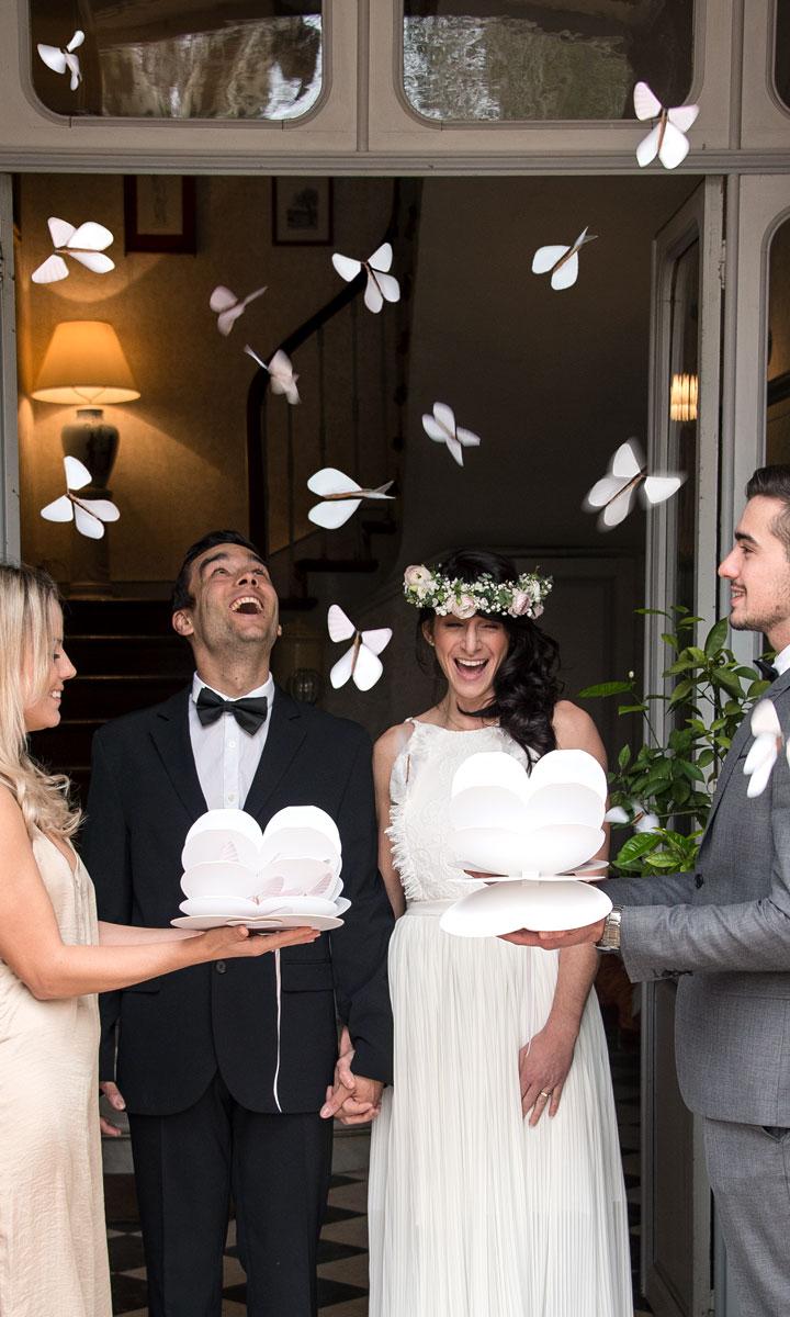 Des papillons magiques pour une sortie de mariage unique