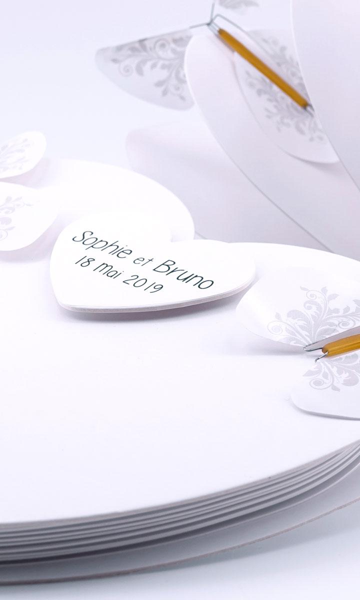 Personnalisez votre Coeur Magique pour une sortie de mariage extraordinaire