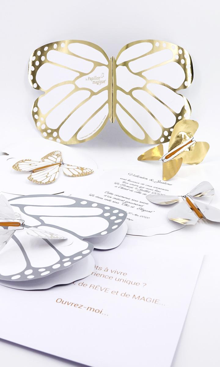 Carte papillon personnalisée