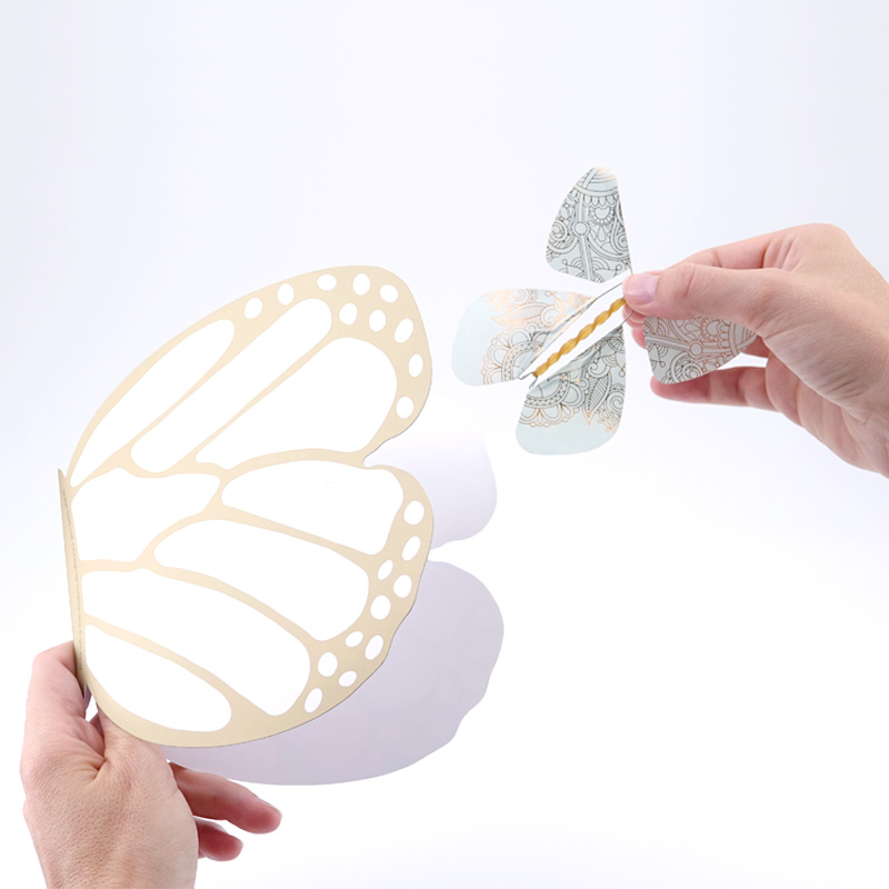 Carte Papillon or