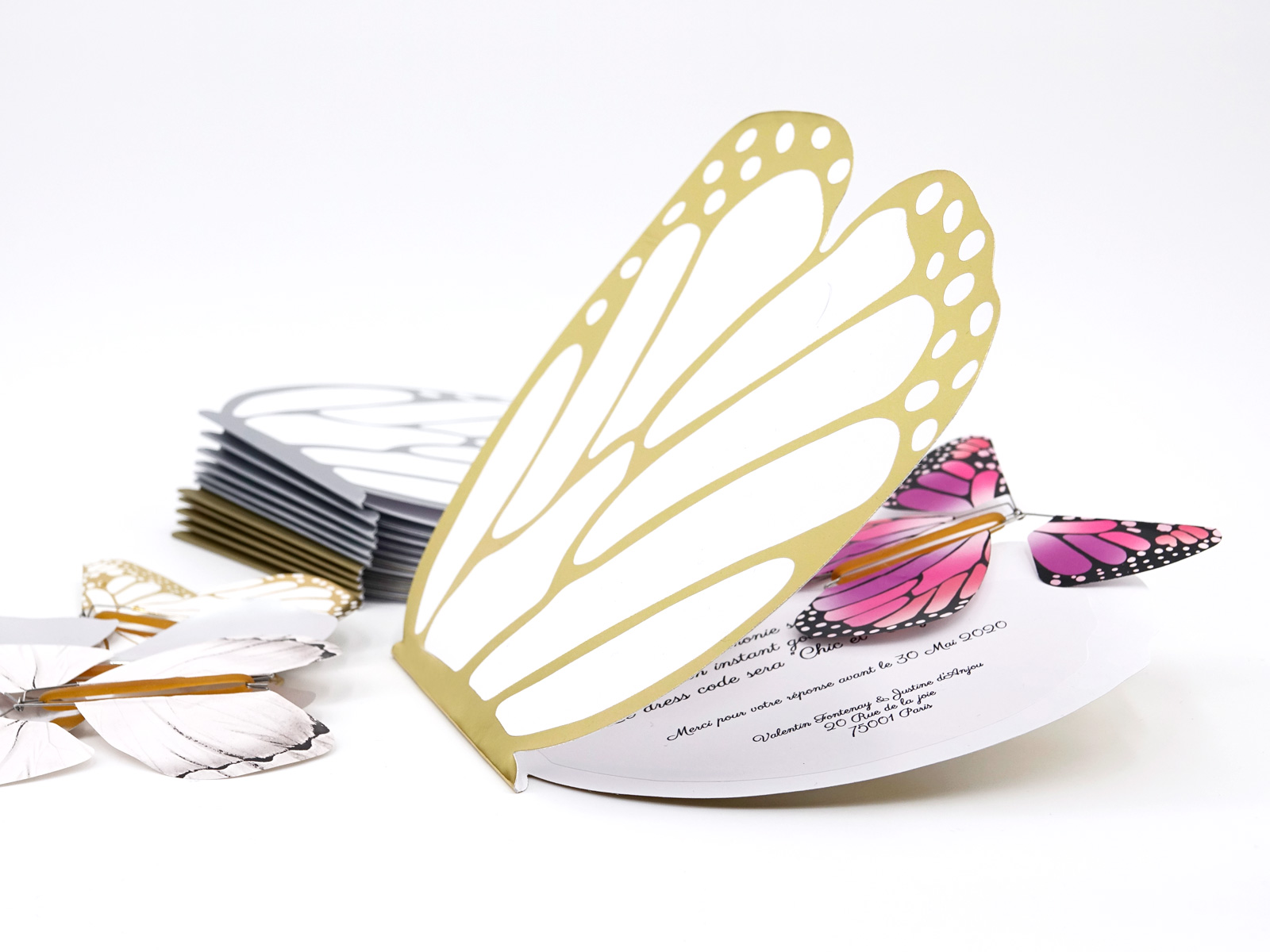 customized butterfly card