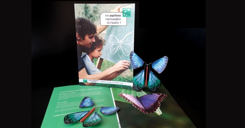 The Magic Butterfly symbol of the future for BNP Paribas - Fortis.